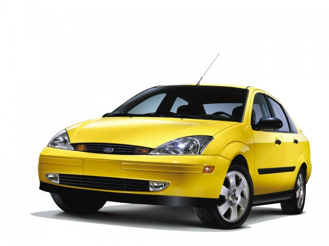 ford focus yellow - 1024x768